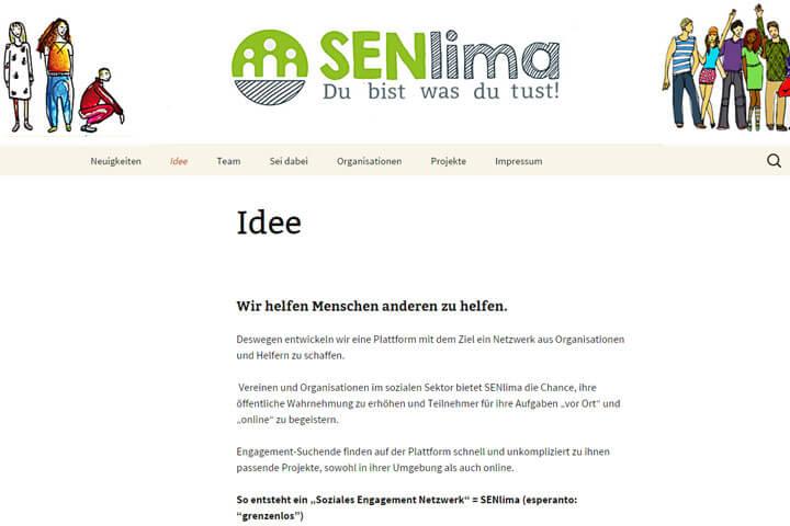 Senlima hilft Menschen anderen zu helfen
