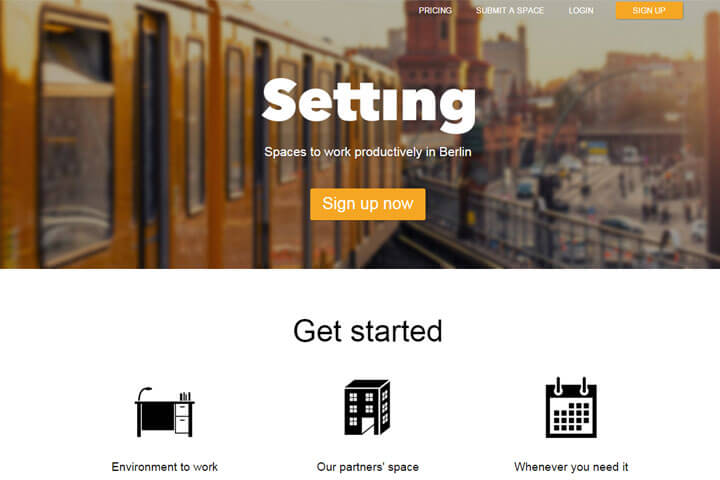 Setting bietet Start-ups flexible Workspaces