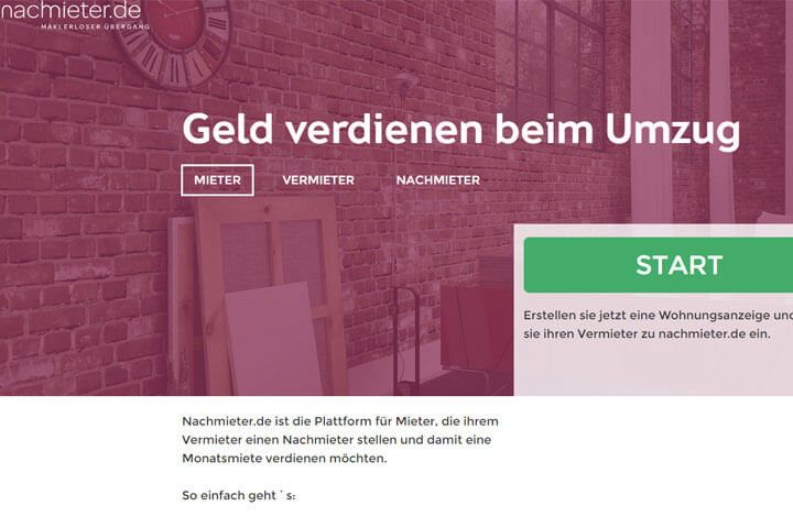 "Nachmieter.de setzt auf das ""Social Maklerprinzip"""