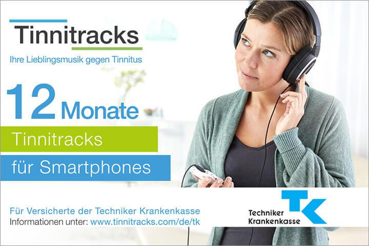 Für Versicherte der TK gibt's Tinnitracks jetzt gratis