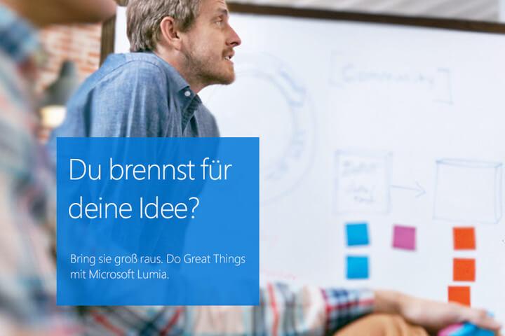 Jetzt bewerben: Microsoft Lumia sucht innovative Gründer