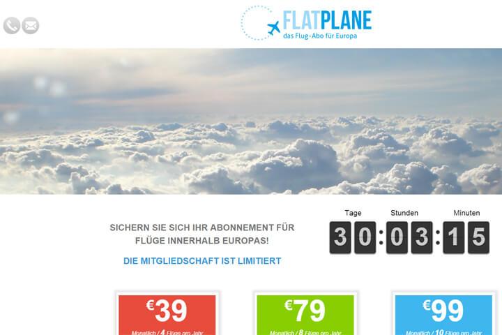 Mit Flatplane kommt die Flatrate für Flugreisen