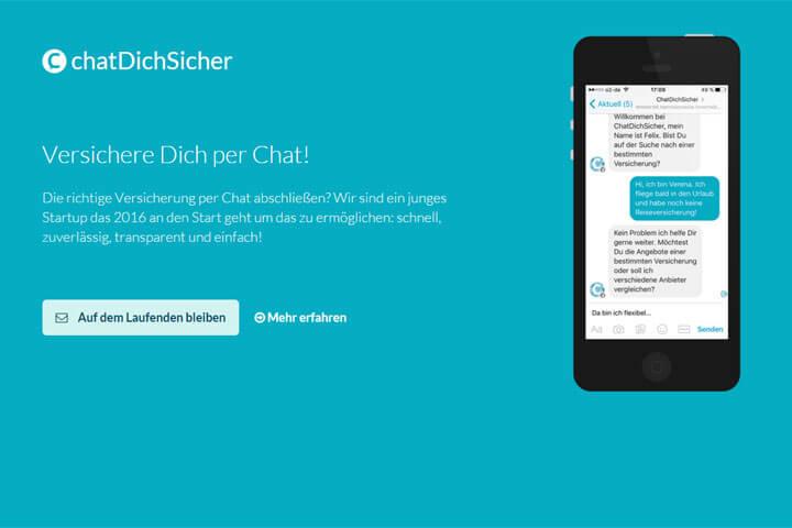 ChatDichSicher bietet Versicherungen via Facebook