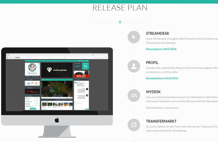 Gamerdesk – Ein Social Media-Hub für Gamer