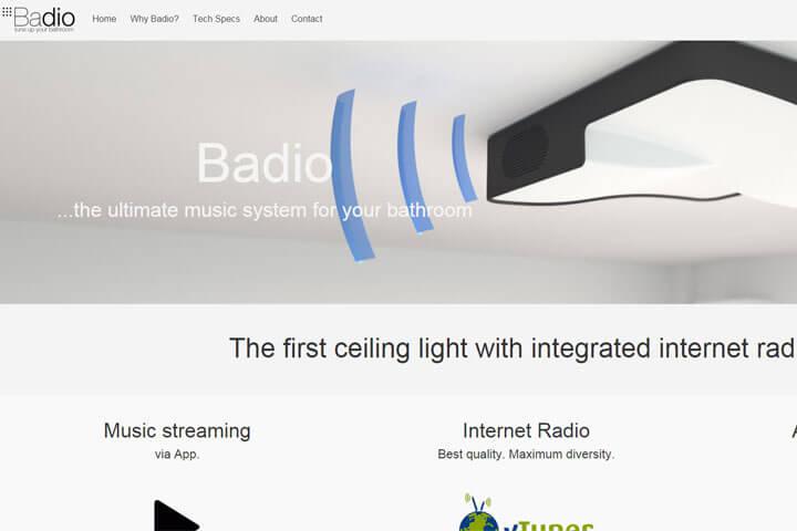 Badio – eine Lampe mit integrierten Radio