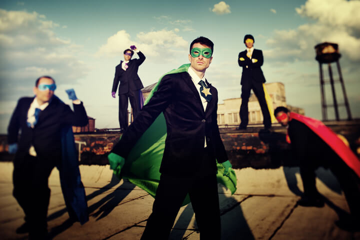 Gründer-Helden: Batman, Superman, Knight Rider