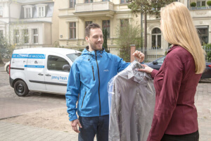Berliner Wäscheservice holt sich Millionensumme ab