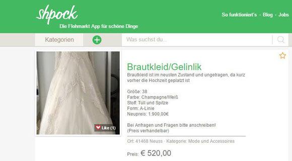 shpock_Brautkleid