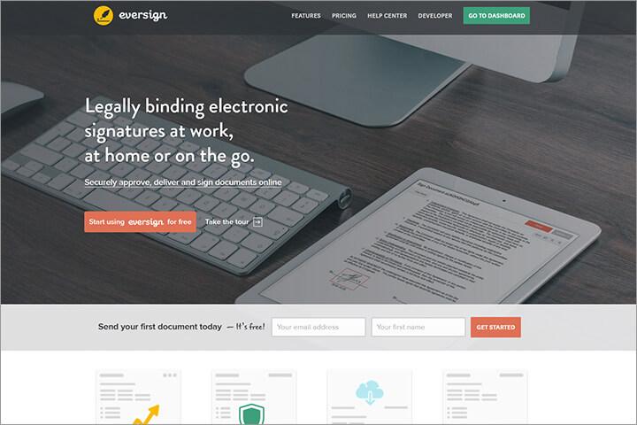 Eversign macht digitales Unterschreiben einfach möglich